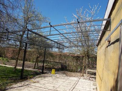 staal, smeedijzer, tuinsmeedwerk, plantenbegroeiing