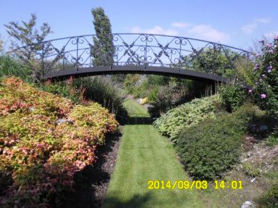 staal, smeedijzer, tuinsmeedwerk, brug, smeedijzeren brug
