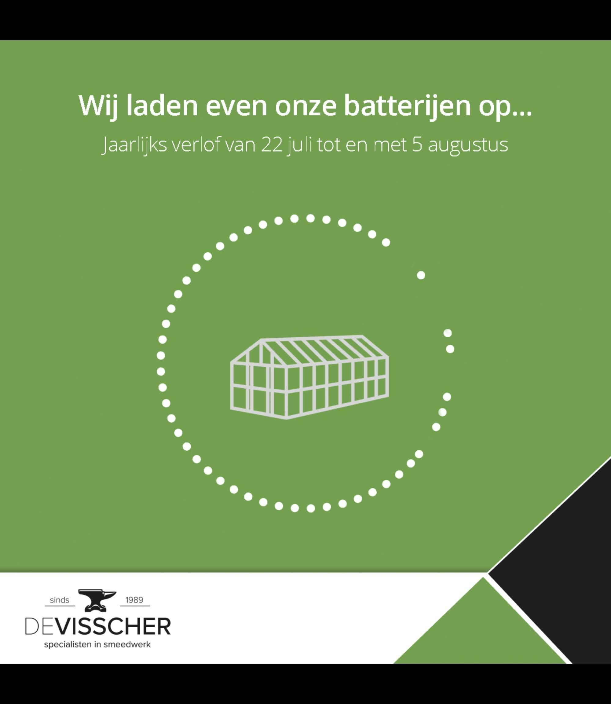 Tijd om onze batterijen even op te laden …