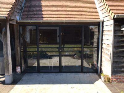 stalen deur, deur in staal en glas